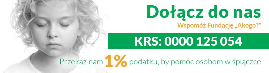 Przekaż nam 1% podatku, by pomóc osobom w śpiączce