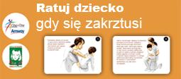 Plakat - schemat udzielania pierwszej pomocy w przypadku zakrztuszenia